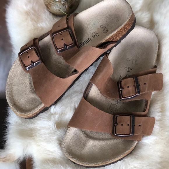 ➳ ➳ Kid's Size 34 C3 Brown Leather Birkenstock ➳ ➳